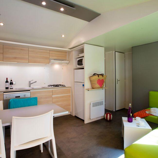 mobil home Gironde : Cottage Fun intérieur