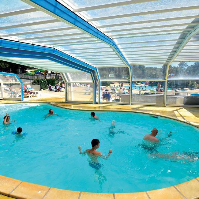 Camping gironde avec piscine et parc aquatique la c te d for Camping brest piscine couverte
