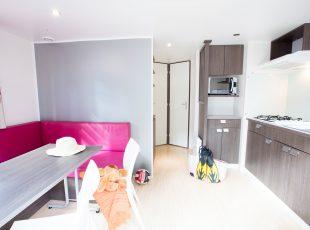 mobil home Aquitaine : cosy intérieur