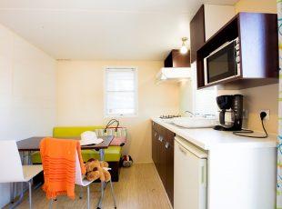 location mobil home Aquitaine : mini intérieur