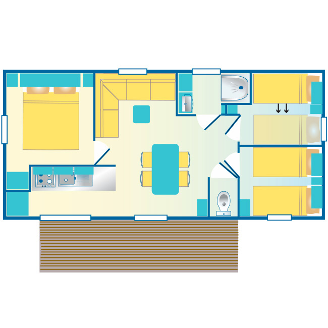 mobil home Hourtin : plan