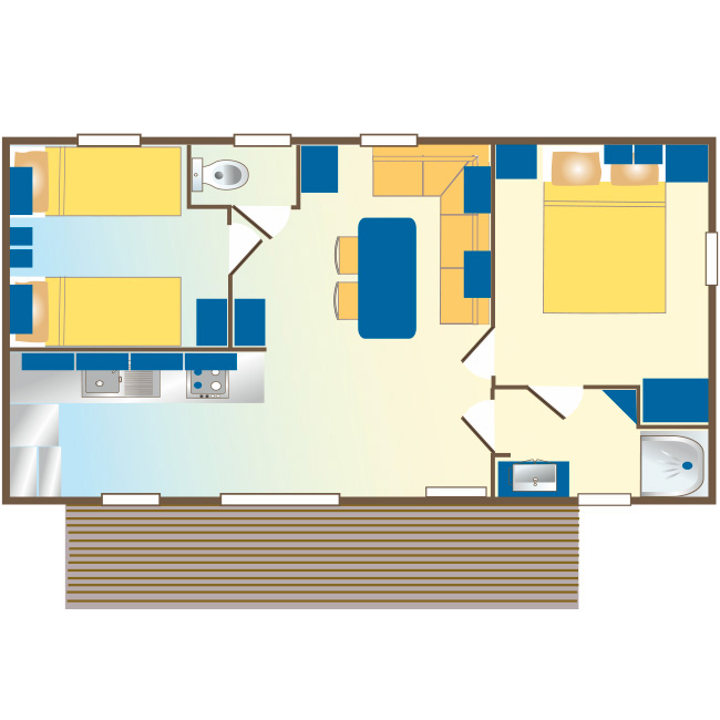 mobil home Aquitaine : plan