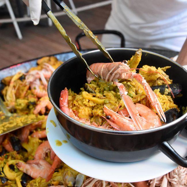 paella au camping en Gironde